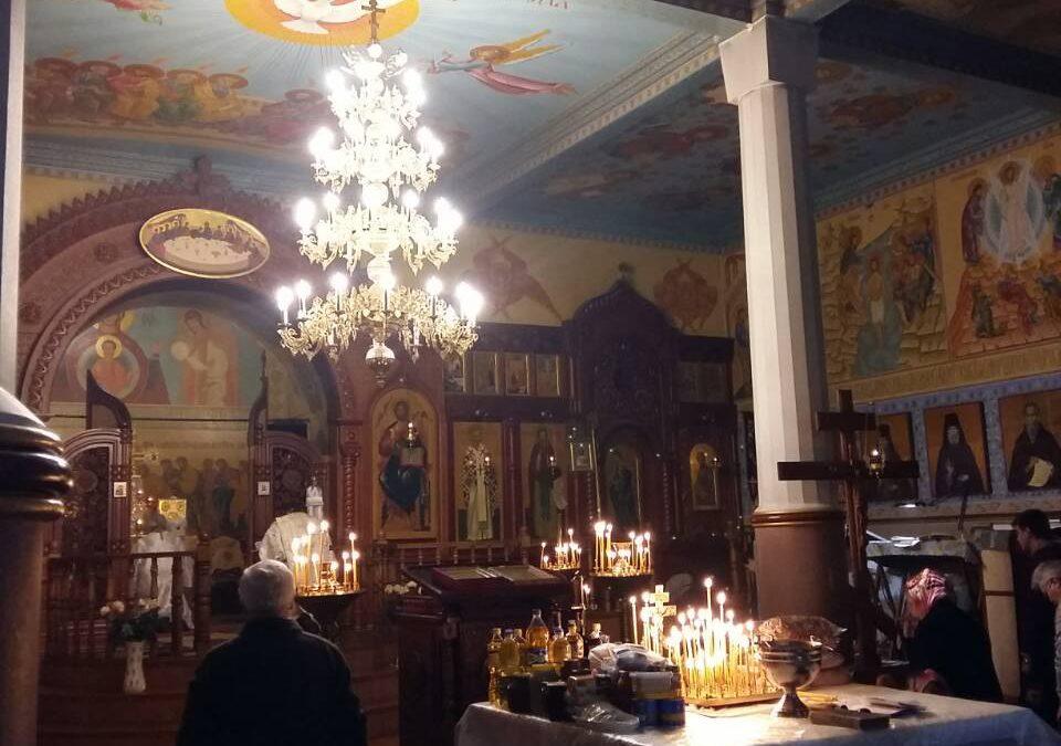 Літургія в монастирі Різдва Пресвятої Богородиці в Урочищі Церковщина