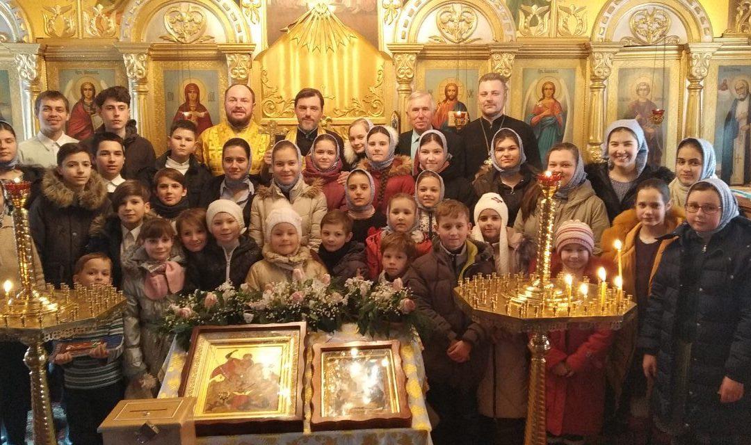Літургія в храмі Георгія Побідоносця у пгт Коцюбинське